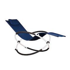 Orbital Lounger - Single (Navy on Matte White)