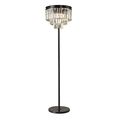 "Dimond 62"" Palacial Crystal Floor Lamp in Oil Rubbed Bronze"