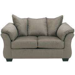 Flash Furniture Signature Design by Ashley Darcy Loveseat in Cobblestone Fabric