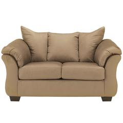 Signature Design by Ashley Darcy Loveseat in Mocha Microfiber