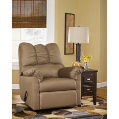 Flash Furniture Signature Design by Ashley Darcy Rocker Recliner in Mocha Fabric