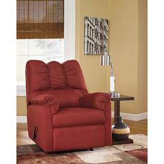 Signature Design by Ashley Darcy Rocker Recliner in Salsa Microfiber