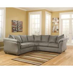 Flash Furniture Signature Design by Ashley Darcy Sectional in Cobblestone Fabric