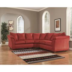 Signature Design by Ashley Darcy Sectional in Salsa Fabric