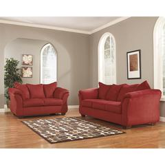Flash Furniture Signature Design by Ashley Darcy Living Room Set in Salsa Fabric