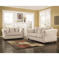 Flash Furniture Signature Design by Ashley Darcy Living Room Set in Stone Fabric
