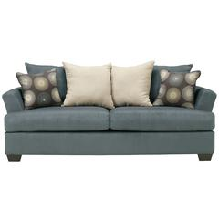 Flash Furniture Signature Design by Ashley Mindy Sofa in Indigo Fabric