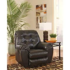 Flash Furniture Signature Design by Ashley Alliston Rocker Recliner in Chocolate DuraBlend
