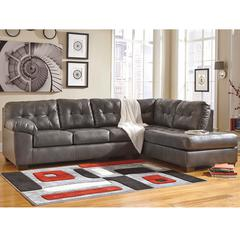 Flash Furniture Signature Design by Ashley Alliston Sectional with Right Side Facing Chaise in Gray DuraBlend