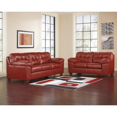 Flash Furniture Signature Design by Ashley Alliston Living Room Set in Salsa DuraBlend