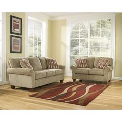 Flash Furniture Signature Design by Ashley Newton Living Room Set in Pebble Fabric