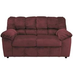 Flash Furniture Signature Design by Ashley Julson Loveseat in Burgundy Fabric