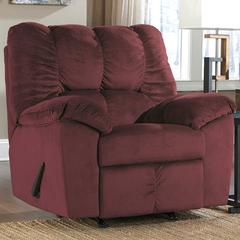 Signature Design by Ashley Julson Rocker Recliner in Burgundy Fabric