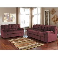 Signature Design by Ashley Julson Living Room Set in Burgundy Fabric