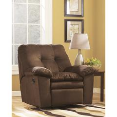 Flash Furniture Signature Design by Ashley Mercer Rocker Recliner in Cafe Fabric