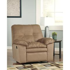 Flash Furniture Signature Design by Ashley Mercer Rocker Recliner in Mocha Fabric