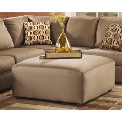 Flash Furniture Signature Design by Ashley Cowan Oversized Ottoman in Mocha Fabric