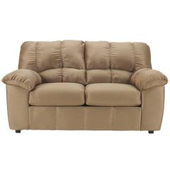 Signature Design by Ashley Dominator Loveseat in Mocha Fabric