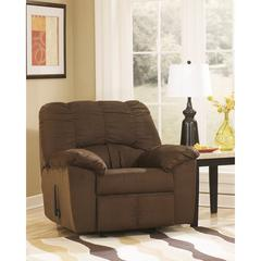 Signature Design by Ashley Dominator Rocker Recliner in Cafe Fabric