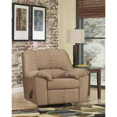 Flash Furniture Signature Design by Ashley Dominator Rocker Recliner in Mocha Fabric