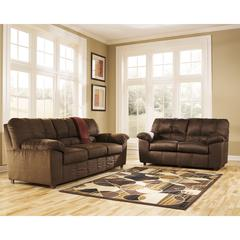 Flash Furniture Signature Design by Ashley Dominator Living Room Set in Cafe Fabric