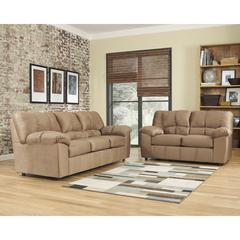 Flash Furniture Signature Design by Ashley Dominator Living Room Set in Mocha Fabric
