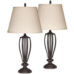 Flash Furniture Exceptional Designs by Flash Mildred Bronze Metal Table Lamp, Set of 2