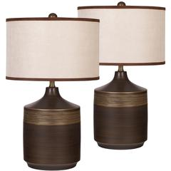 Flash Furniture Exceptional Designs by Flash Karissa Brown Ceramic Table Lamp, Set of 2