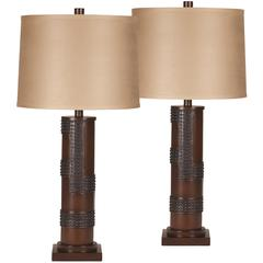 Flash Furniture Exceptional Designs by Flash Oriel Antique Copper Poly Table Lamp, Set of 2