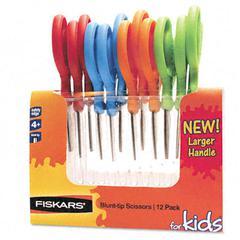 Fiskars Children's Safety Scissors, Blunt, 5 in. Length, 1-3/4 in. Cut, 12/Pack