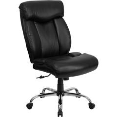 Flash Furniture HERCULES Series 400 lb. Capacity Big & Tall Black Leather Executive Swivel Office Chair