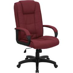 Flash Furniture High Back Burgundy Fabric Executive Swivel Office Chair