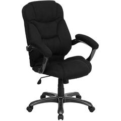 Flash Furniture High Back Black Microfiber Contemporary Executive Swivel Office Chair