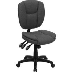 Flash Furniture Mid-Back Gray Fabric Multi-Functional Ergonomic Swivel Task Chair