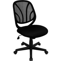 Flash Furniture Y-GO Chair™ Mid-Back Black Mesh Swivel Task Chair