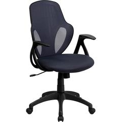 Flash Furniture Mid-Back Executive Dark Gray Mesh Chair with Nylon Base