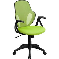 Mid-Back Executive Green Mesh Chair with Nylon Base