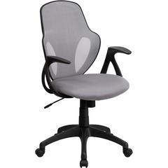 Mid-Back Executive Gray Mesh Chair with Nylon Base