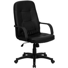 Flash Furniture High Back Black Glove Vinyl Executive Swivel Office Chair