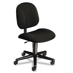 HON Every-Day Series Swivel-Back Pivot Task Chair, Black