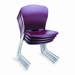 Accomplish Series Large Student Chairs, Garnet/Titanium, 4/Carton