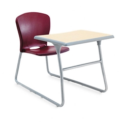 HON Desk/Chair Combo, 26w x 40-3/4d x 26h, Maple Top/Garnet Red Seat