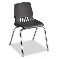 "HON Proficiency Student Shell Chair, 16"" Seat Height, Lava Shell, 4/Carton"