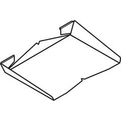 Initiate Paper Shelf, 15x9 1/2x2, Light Gray