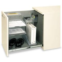 """HON Flagship Left Side Access Pedestal File Cabinet - 15.0"""" x 22.9"""" x 28.0"""" - File Drawer(s) - Security Lock - Putty"""