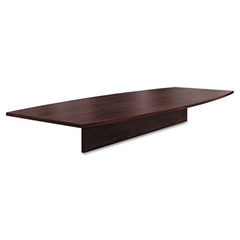 Preside Boat-Shaped Conference Table Top, 120w x 48d, Mahogany