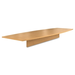 Preside Boat-Shaped Conference Table Top, 144w x 48d, Harvest