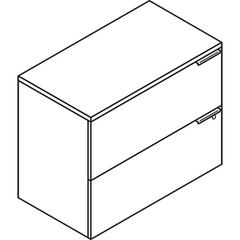 Voi Two-Drawer Lateral File, 36w x 20d x 29-1/2h, Harvest