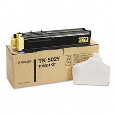 Kyocera TK502Y Toner, 8000 Page-Yield, Yellow
