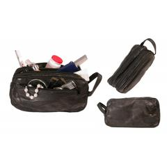 Bond Street Patch Leather Design Travel Shaving Toiletrie Case
